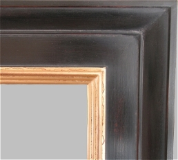 Milan in Antique Ebony over Burnt Sienna